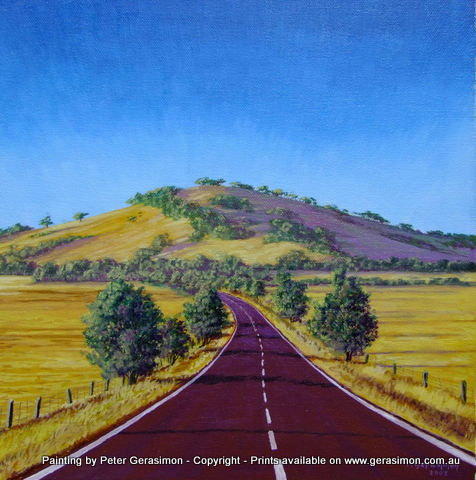 Country Road Painting by Peter Gerasimon