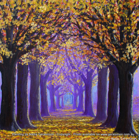 Painting by Nadia Gerasimon the clolour of trees